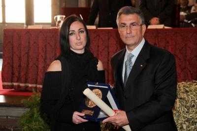 la moglie Elena Gargani